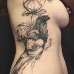 Girl Tattoo Crow and Poppy