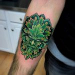 Green Man Tattoo on Arm