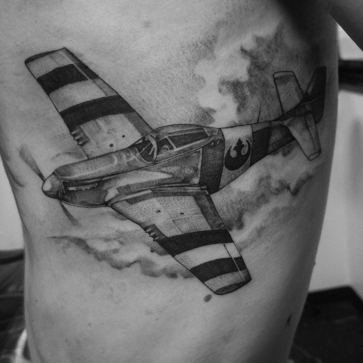 Grey Plane Tattoo by Vincent D. Samaniego