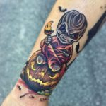 Halloween Tattoo New School on Arm