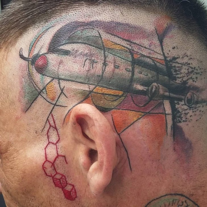 Head Side Plane Tattoo by simplytattoo