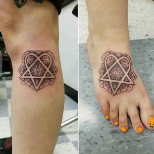 Hertogram Tattoos for Sisters