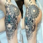 Hip Thigh Tattoo