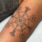 arm tattoo viking compass
