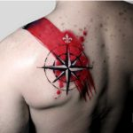 Nautical Star Tattoo on Shoulder Blade