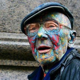 Oldman Tattoo Full Face