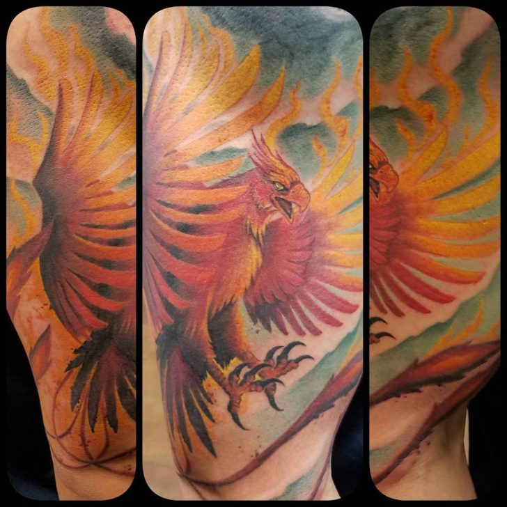 Phoenix tattoo interpretation by Antonio Tone Alvarez
