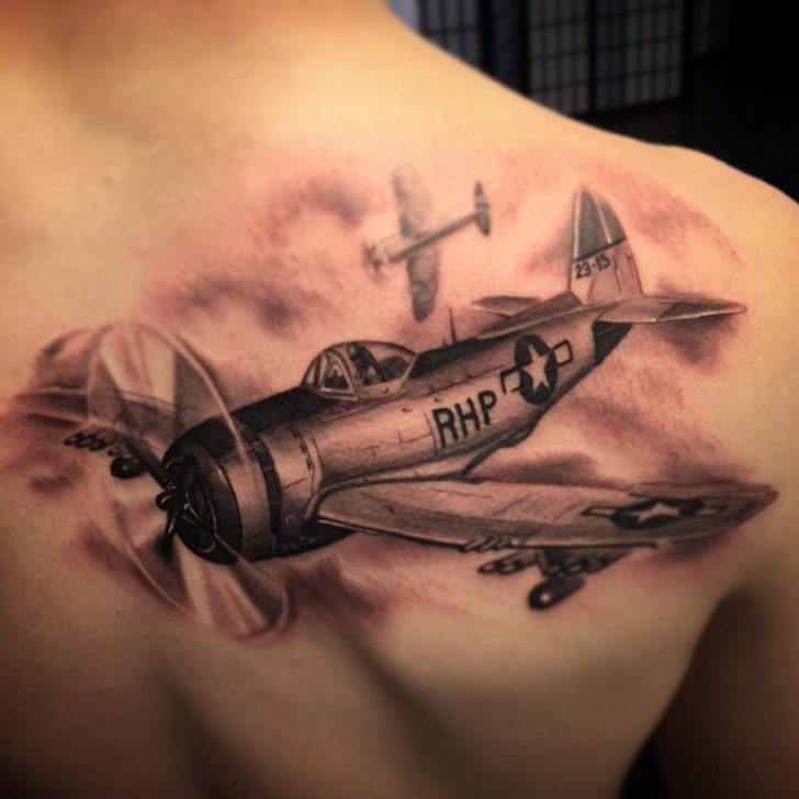 Shoulder Blade Plane Tattoo by Austin J Evans