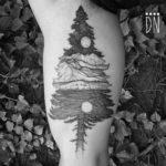 Sitka Spruce Tattoo on Bicep