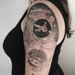 Space Scene Tattoo