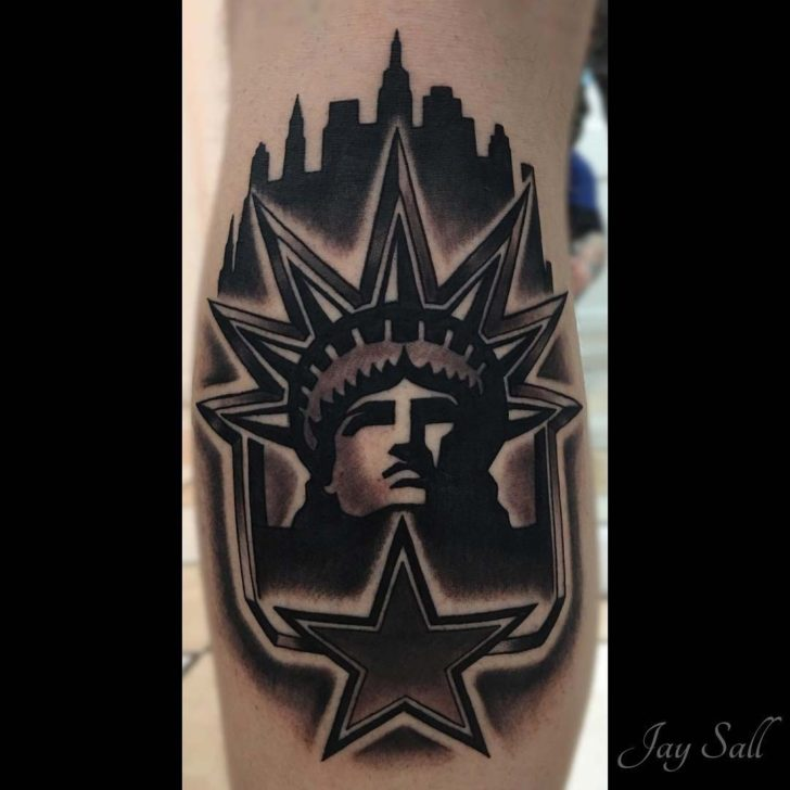 patriotic dark tattoo statue of liberty