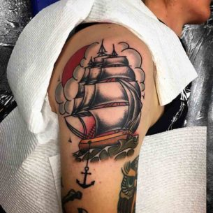 Tattoo Sailing Ship