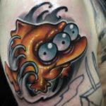 new school tattoo fish from Simpsons
