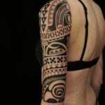 Tribal Half Sleeve Tattoo Girl