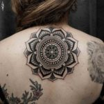 Upper Back Mandala Tattoo For Girl
