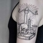 shoulder tattoo sku8ll candle book weights