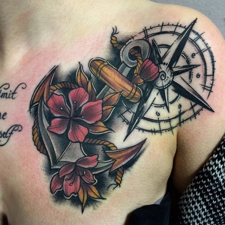 anchor and flowers by Ana Juanita