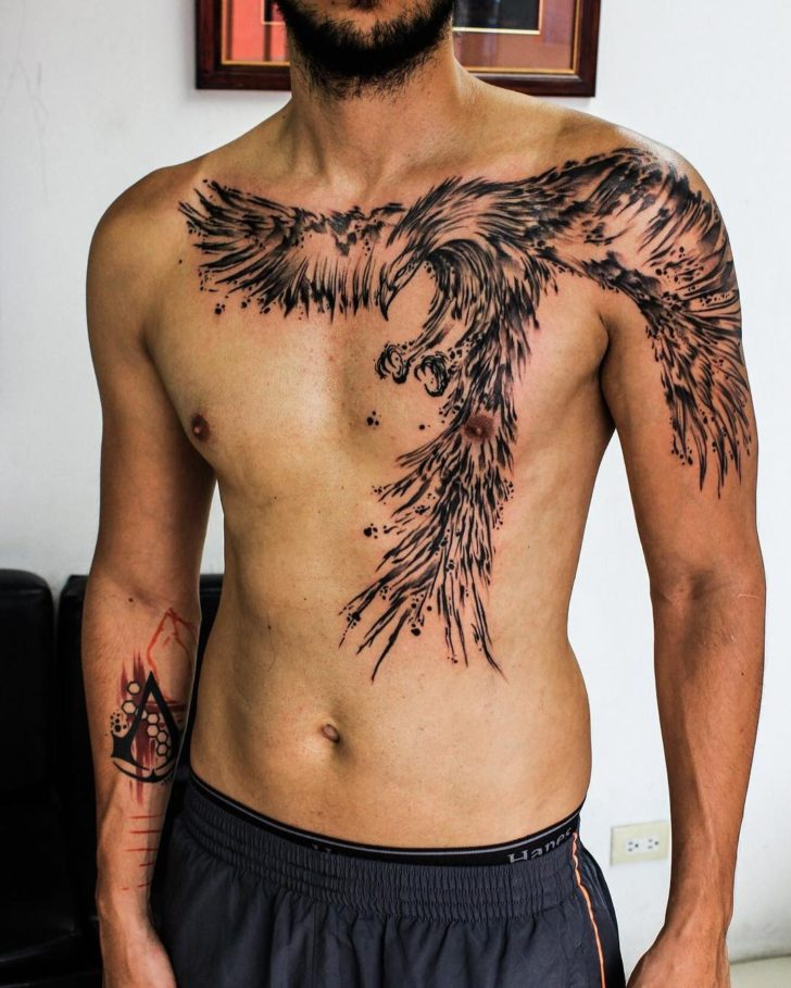 awesome phoenix tattoo by Wesly Fernández Parajeles