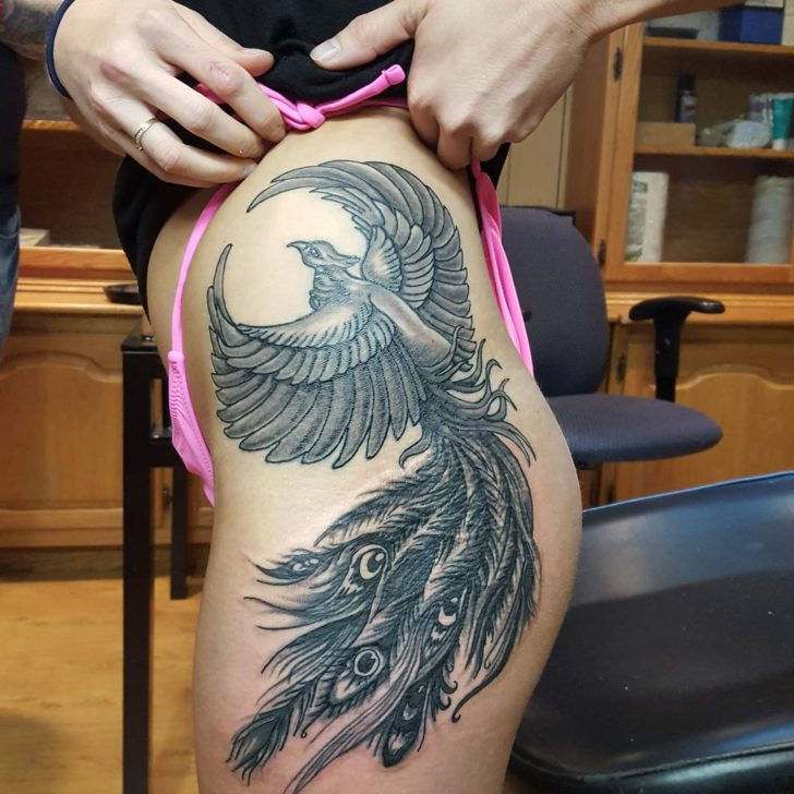 big phoenix tattoo by HYPNOTiC TATTOO