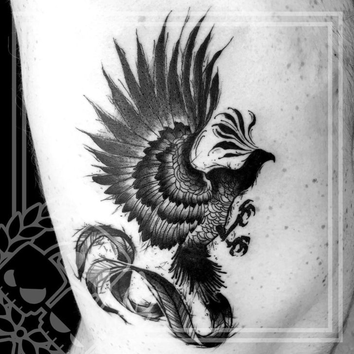 blach phoenix tattoo by Jeremiah Catalyst Jaroch