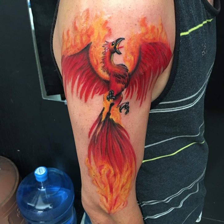 cool phoenix tattoo by Anna Watkins