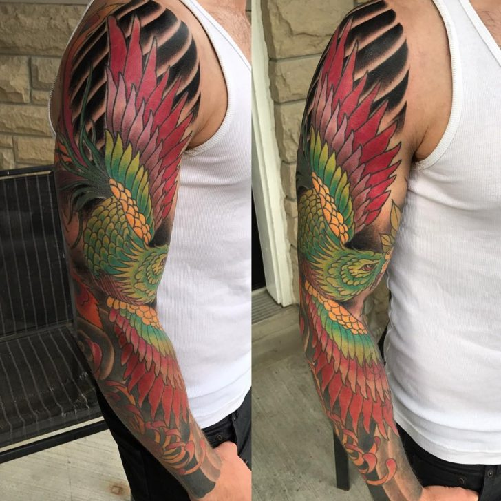 oriental phoenix tattoo by Tyler Harvey-Neale