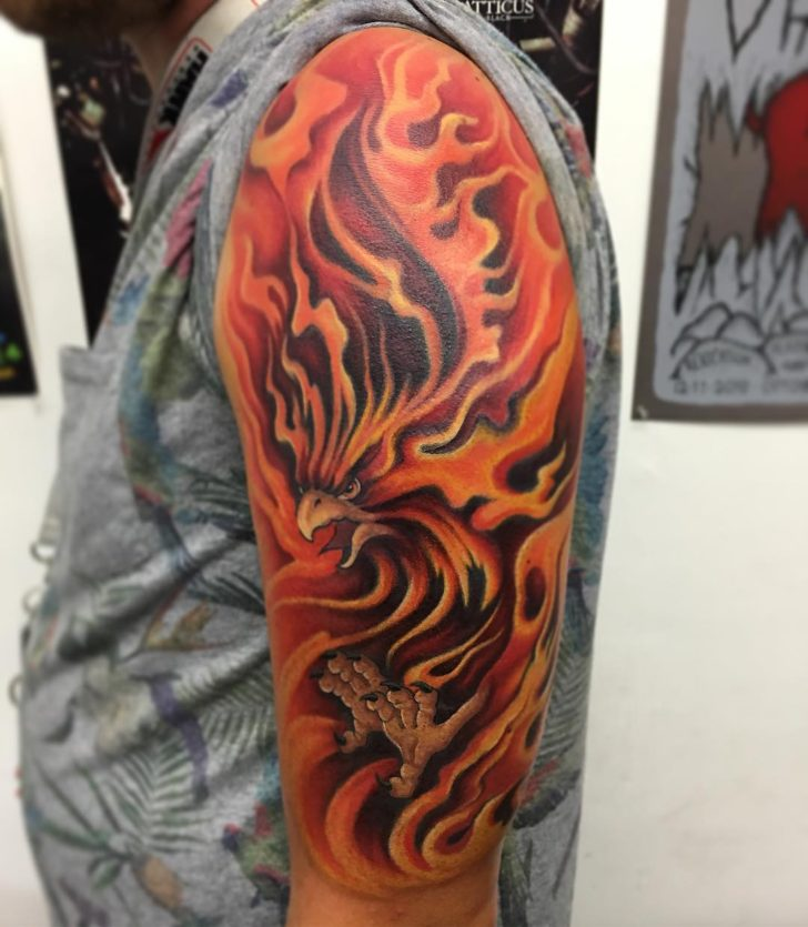 phoenix and fire by Tim Knecht