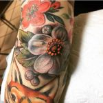 Elbow Flower Tattoo Designs