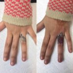 Finger Cover Up Tattoo Rose