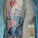 Flowers Tattoo on Shoulder
