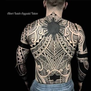 Full Back Tattoo Tribal