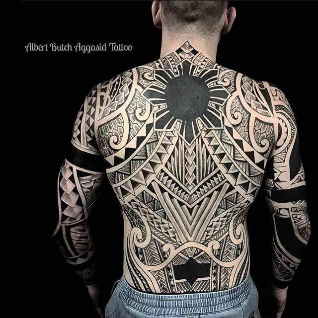 tribal tattoo full back