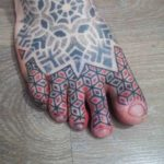 Geometric Tattoo on Toes