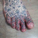 Geometric Tattoo on Toes