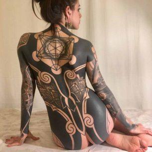 Heavy Blackwork Tattoo