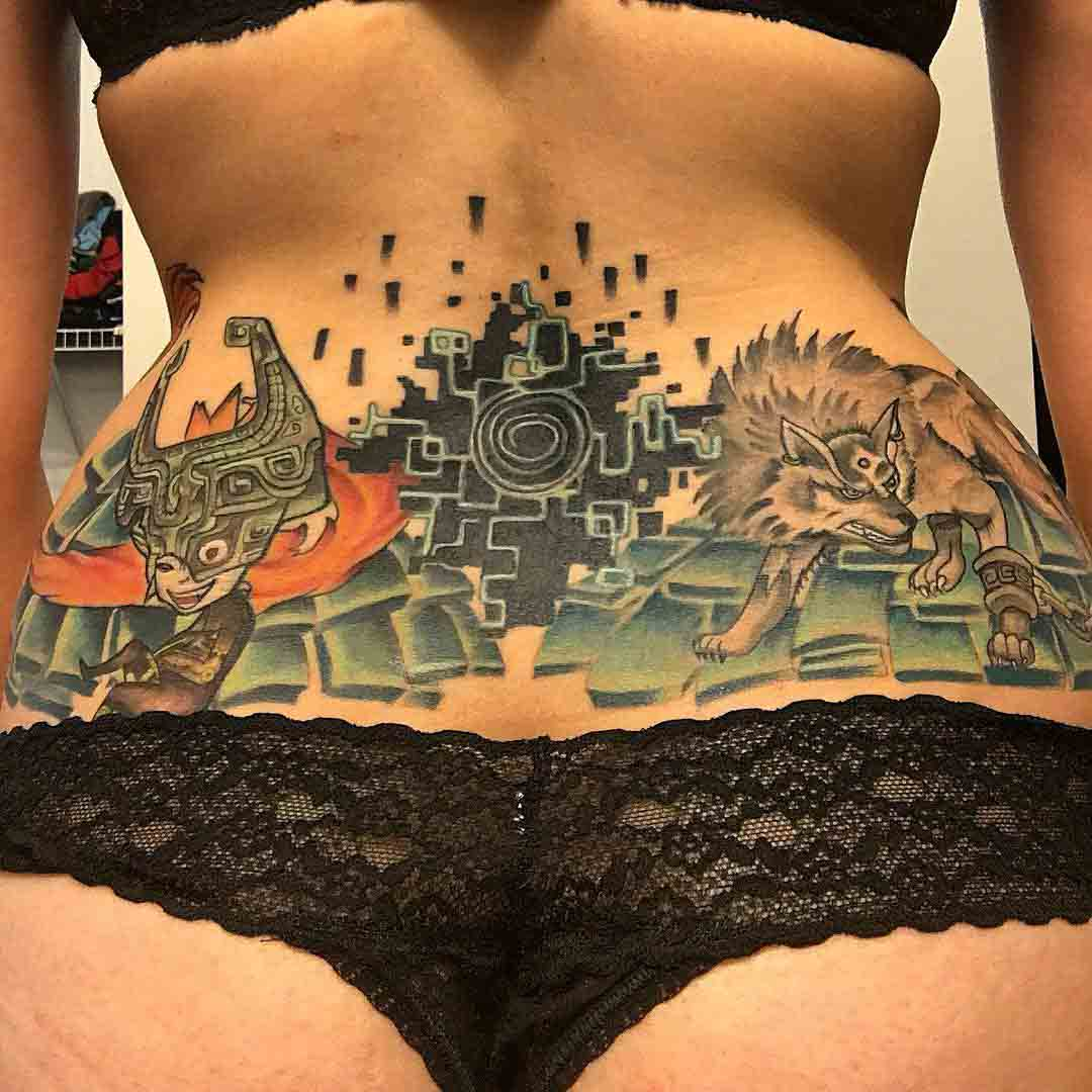 lower back tattoo girl