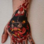 Mad Dog Tattoo on Hand