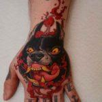 Mad Dog Tattoo on Hand