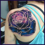 Shoulder Space Rose Tattoo