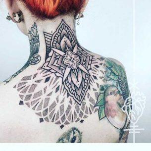 Tattoo Nape of Neck