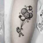 Astronaut With Balloons Tattoo