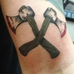 Crossed Axes Tattoo