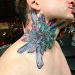 Crystal Tattoo on Neck