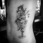 scottish piper girl tattoo
