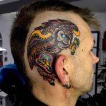 Head Side Owl Tattoo