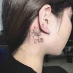 Imp Tattoo Behind the Ear