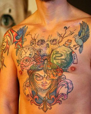 Incredible Chest Tattoo