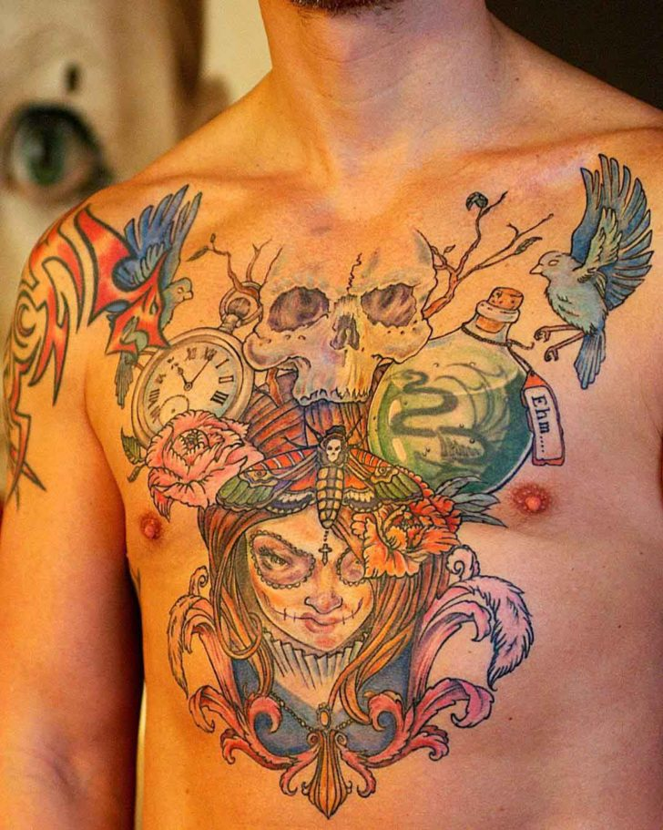 chest tattoo piece