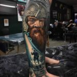 LOTR Tattoo on leg Gimli dwarf