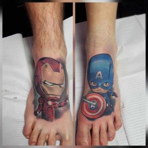 Marvel Tattoos on Feet